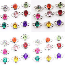20/100Pcs Acrylic Mixed Clear Czech Crystal Link Connector Beads Charms 8mm 10mm