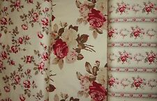 Rose Fabric by the yard Floral Quilting Supplies Home Decor Cabbage Roses Design