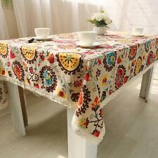 Cotton Linen Tablecloth Printing Table Cover Multi-purpose Home Table Cloth R6H5