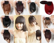Real Thick Fringe Bangs Clip In On Hair Extensions Straight Hair Extension LKZ