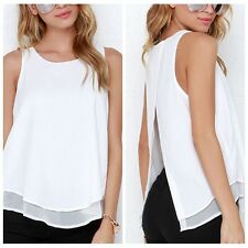 New Sexy Women Vest Sleeveless Shirt Blouse Summer Casual Ladies Loose Tops DW