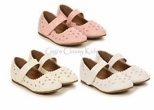New Girls Ivory Pink White Dress Shoes Mary Jane Baby Toddler Youth Kids 5