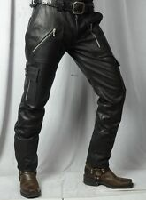 leather jeans pant military army cargo biker Harley boulevard bonivelle fatboy