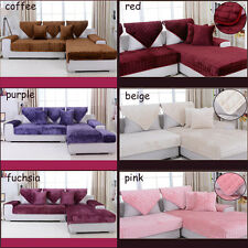 Removable Super Soft Flannel Sofa Cover - Red / Pink / Coffee / Purple / Beige