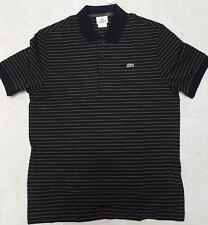 NEW 2017 COLLECTION MENS STRIPED LACOSTE SHORT SLEEVE PIQUE POLO ALL SIZE