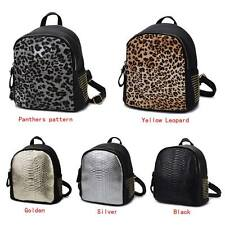 2016 Fashion PU Leather Leopard Backpack Alligator Bookbags School Shoulder Bag
