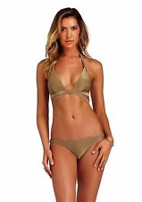 Vitamin A Bronze Metallic Sirena bikini set sz 10 / L