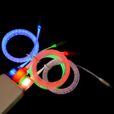 Visible LED Flow Light Micro USB Charging Data Sync Cable for Android Phone