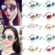 Charm Women Love Heart Shape Lens Metal Frame Sunglasses Eyewear Eyeglasses Gift