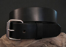 "Men's Black English Bridle Leather Belt 1.5"" or 1.75"" Wide - Handmade in USA"