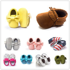 Baby Soft Sole Crib Suede/Leather Shoes Infant Boy Girl Toddler Moccasin 0-18M