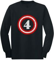 Captain 4th Birthday - Gift for Four Years old Toddler/Kids Long sleeve T-Shirt