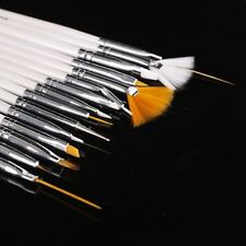 5x(CF 15pcs Nail Art Gel Design Pen PaInting Polish Brush Dotting Drawing Set)