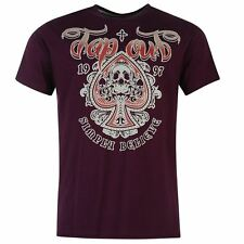 Tapout Mens Skull Print T-Shirt PLUM  New With Tags