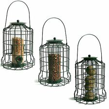 3 x HANGING WILD BIRD FEEDERS SQUIRREL PROOF GUARD FEEDING