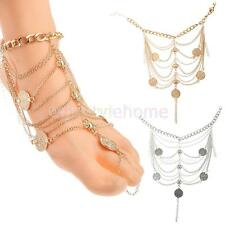 Sexy Women Coin Chain Ankle Anklet Bracelet Barefoot Sandal Beach Foot Jewelry