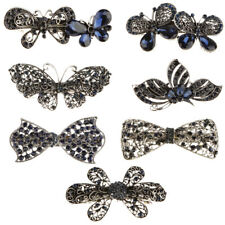 Crystal Rhinestone Wedding Bridal Hair Clip Barrette Butterfly Hair Accessories