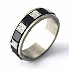 Stainless steel knuckle Love Ring free shipping size 6 7 8 9 mens black white