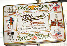 HARD-TO-FIND - Vintage WHITMANS SAMPLER Chocolates TIN - BICENTENNIAL Candy