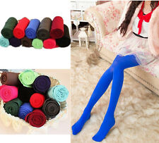 Sexy Opaque Pantyhose New Socks Candy Color Tights Slim Footed Womens Elastic