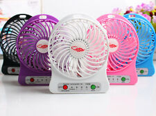 Portable Rechargeable Mini Fan air Cooler Mini Operated Desk USB +18650 Battery