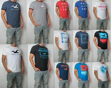 NWT HOLLISTER Printed & Applique Logo Graphic Men T Shirt Tee By Abercrombie