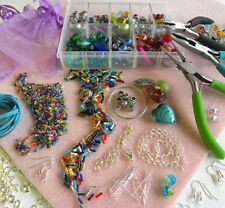 JEWELLERY MAKING STARTER KIT *EVERYTHING INCLUDED * BEADS-TOOLS-INSTRUCTIONS
