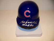 HALL OF FAMER BiILLY WILLIAMS SIGNED CHICAGO CUBS RIDDELL  MINI HELMET