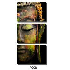 Buddha 3PC  Hand Painted Abstract Oil Painting on Canvas Wall Art Decoration
