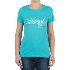 ANIMAL T-SHIRT (ABELLAA) BLUE CARACAO WOMENS SIZES 8 BNWT RRP £18