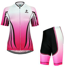 Women Cycling Short Sleeves Pants Quick Dry Jersey MTB Bike Bicycle Sets Riding