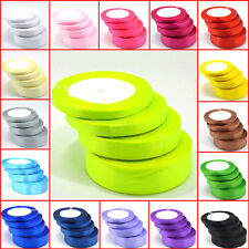 New 22 metres of  Satin Ribbon 6mm 10mm 15mm 20mm 25mm 38mm Various Colour