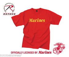 RED OFFICIAL US MARINES T-SHIRT - OFFICIALLY LICENSED BY U.S. MARINES