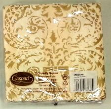 New Caspari Lot of Two 20-Count Packs Venietian Ivory Luncheon Dinner Napkins