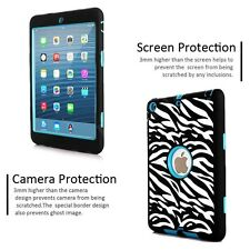 Hybrid Rubber Shockproof Premium Case Cover For Apple iPad Air 1 Zebra Fast Ship