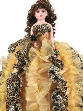 NEW Ruffle Animal Print Quinceanera Doll For Girl Birthday Q2061