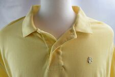 IZOD men's size XXL 2XL short sleeve polo shirt 100% cotton knit Yellow