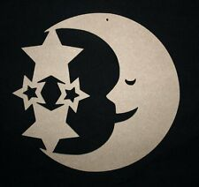 MDF Man In The Moon With Attached Stars Mobile/ Wooden Craft Shape Blank