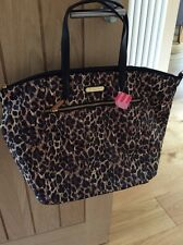 Victoria's Secret Leopard Print Tote Bag New With Tags