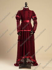 Edwardian Victorian Lace Christmas Holiday Gown Reenactment Theater Clothing 353