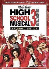 Disney's HIGH SCHOOL MUSICAL 3 Extended Edition 2-Disc DVD Set Zac Efron