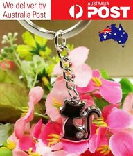 CUTE CAT KEYRING - QUALITY KITTEN KEY CHAIN, VARIOUS COLOURS - NEW, FREE POSTAGE