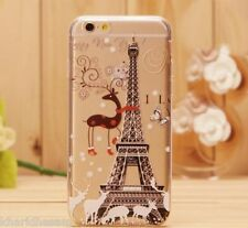 Sale iPhone 6 Clear Case Flower Funny Girl Pattern Cover Cheap