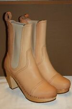 NEW! SWEDISH HASBEENS Hand Made Natural CILLA CHELSEA Clog Ankle Boots Sz 5 $415
