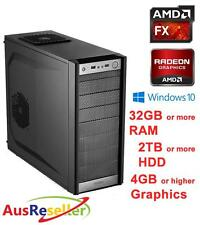 NEW AMD 8 Core FX 8350 4GHz 32GB RAM Radeon R7 370 Gaming Desktop PC X532654