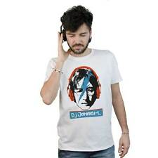 T-shirt Dj John Lennon Beatles, T-shirt white, drawing funny Music Pop