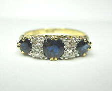 FABULOUS Antique sapphire and diamond ring