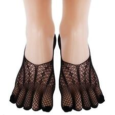Sexy Ladies Lace Mesh Socks Fishnet Elastic Ankle Five Toe Boat Socks