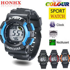 Fashion Men LED Digital Alarm Date Rubber Army Watch Waterproof Sport Wristwatch