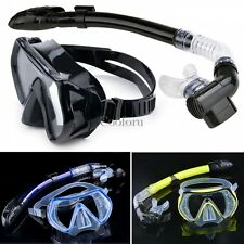 Fashion Scuba Diving Snorkeling Purge Mask Dry Snorkel Gear Set Silicone 3Colors